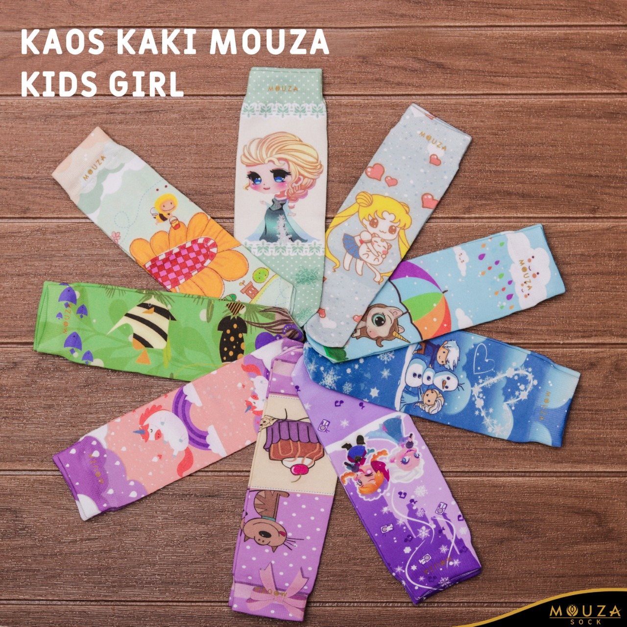 Free Stock Kaos Kaki Mouza Kids Girl Januari (33-41)